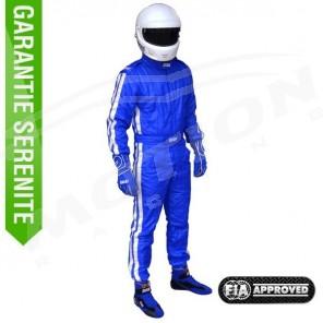 FIA driver suit, RRS diamond, 3 layers, blue