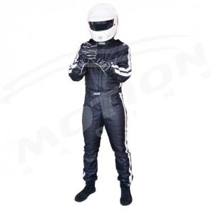 FIA driver suit, RRS diamond, 3 layers, BLACK
