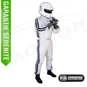 FIA driver suit, RRS diamond, 3 layers, Silver