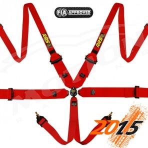 RRS FIA Pro 6 Harness, 3/2'' Hans compatible